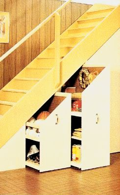 Stairwell Storage great for under the stairs wonder how much it would cost to do