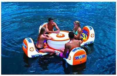 Giant Inflatable Pool Float Island Table Seat Outdoor Toys - Inflatable picnic table