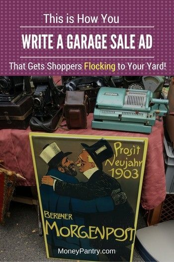 place an ad for garage sale