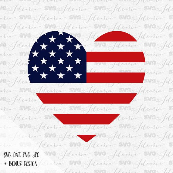 Print Silhouette Cut File Monogram svg Independence Day svg Fourth of July svg Patriotic 4th of July svg USA Monogram svg Cricut
