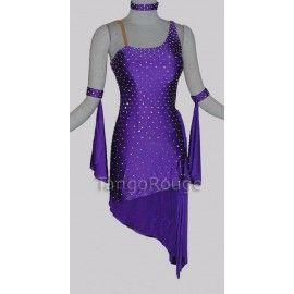 Latin Dance Dress Salsa Tango Cha cha Ballroom Velvet Competition Dress FM264