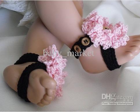 Cheap Girl Shoes Cute Crochet Pattern Baby Girl Shoes Sandals Flowers Barefoot Onlin Crochet Baby Barefoot Sandals Barefoot Sandals Baby Crochet Baby Sandals