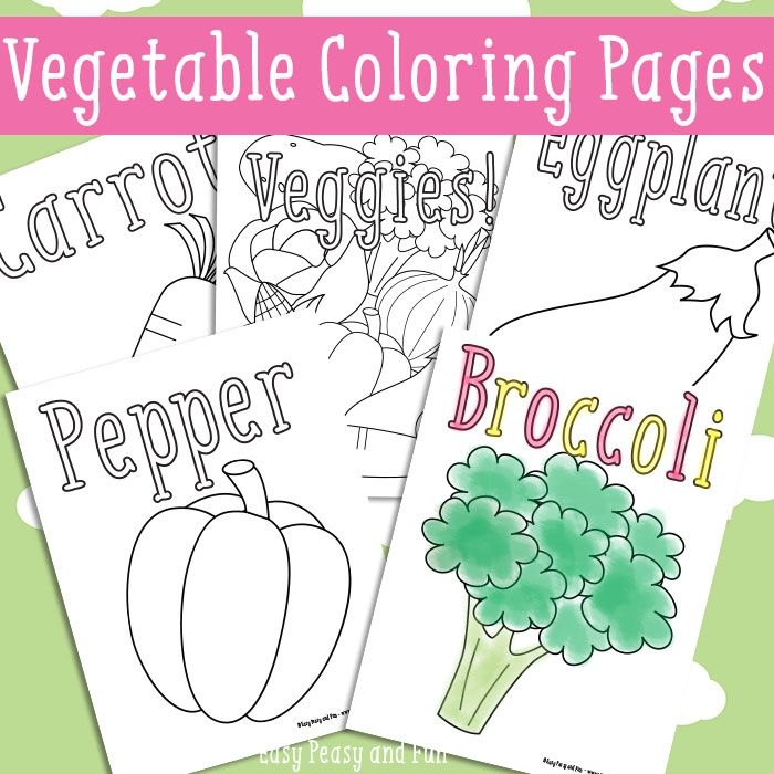 Vegetables Coloring Pages Free