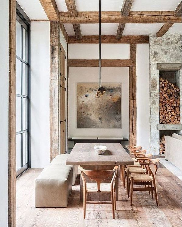 Dstanleydixonarchitect, Esszimmer, Holzbalken, rustikales Haus www.divesanddolla ...., #divesanddolla #dstanleydixonarchitect #esszimmer #holzbalken #rustikales #farmhousediningroom