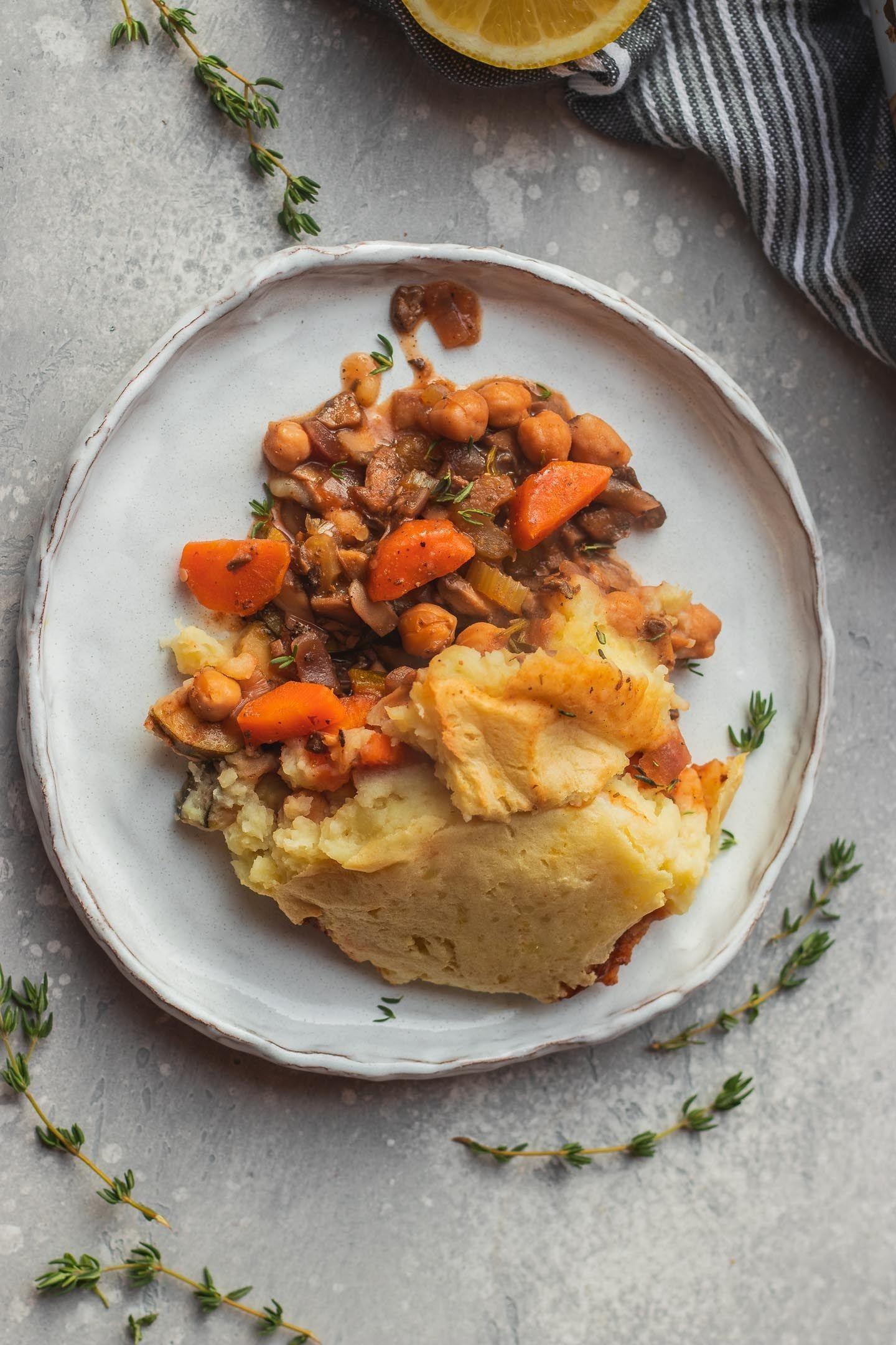 Chickpea Vegan Shepherds Pie Gluten Free