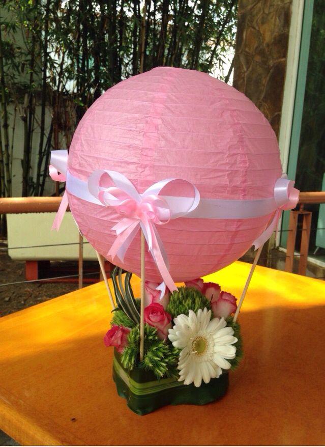 Centro de mesa linterna de papel Con canasta De flores Beatriz