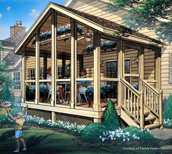 Screened In Porch Plans to Build or Modify | Rehabs | Pinterest ...