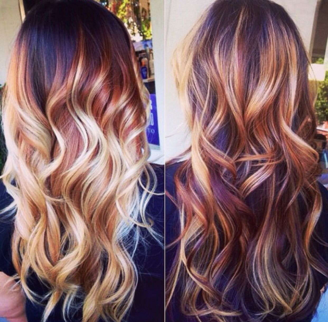 Ombré done two ways-- subtle, and not so subtle. Chunky blonde ...