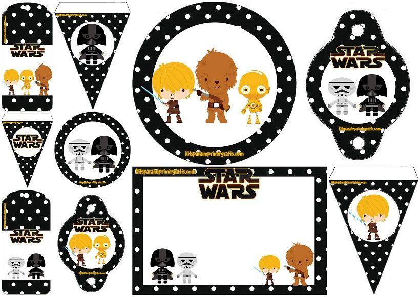 Star Wars Bebés: Mini Kit para Imprimir Gratis. | Star Wars Birthday ...