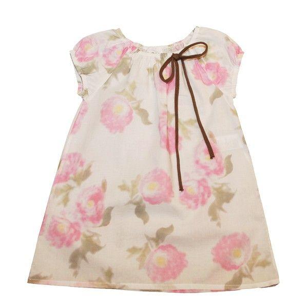 VESTIDO DOUUOD con flores y lazo. Más moda infantil online en www.yosolito.es/tienda