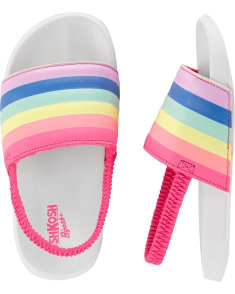 085036e61cce Rainbow Slip-On Sandals from OshKosh B gosh. Shop clothing   accessories  from a trusted name in kids