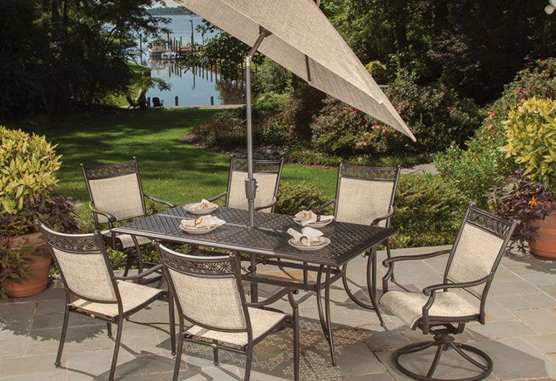Agio Manhattan Collection Our Set Outdoor Dining Set Patio