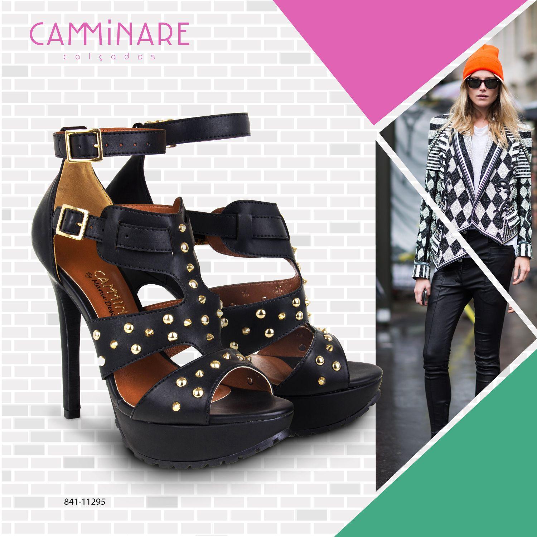 SOLA TRATORADA! ✌️ Inspirado na estética punk, este solado apareceu em importantes marcas na temporada internacional de moda de inverno 2014!    #camminare #shoes #love #moda #tendência #punk