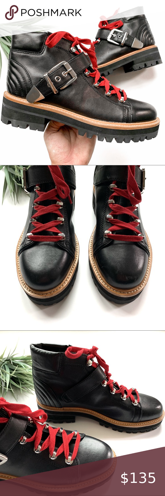 Marc Fisher Indre Leather Hiker Boots