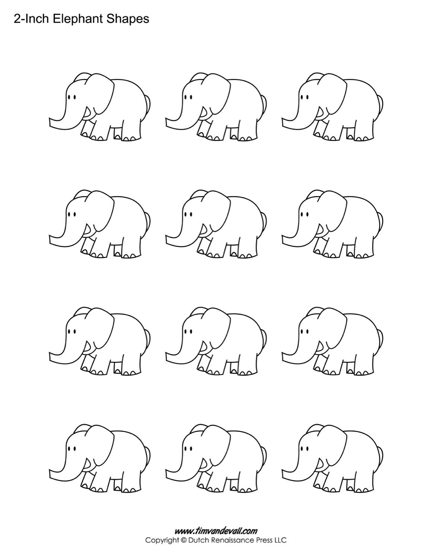 Elephant Shapes For Kids