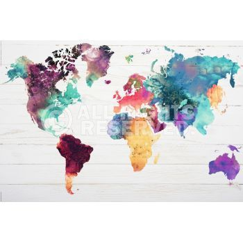 Xenos poster the world in watercolors zum verkauf online bestellen explore world map poster maps posters and more gumiabroncs Images