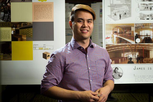 2012 QUT Interior Design Graduate Exhibition Pictured James Luu