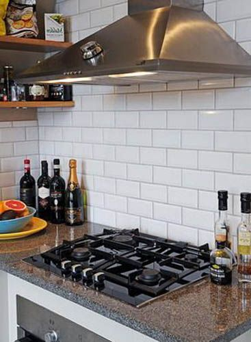 White Brick Wall Tiles For Bathroom And Kitchen Interiors Brick Kitchen Kitchen Wall Tiles White Brick Tiles Kitchen
