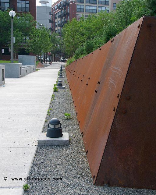 Mary Bartelme Park 024 Corten Steel Retaining Walls And