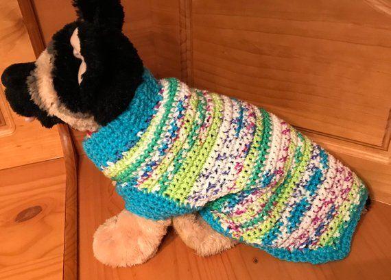 Medium Dog Crochet Sweater #dogcrochetedsweaters