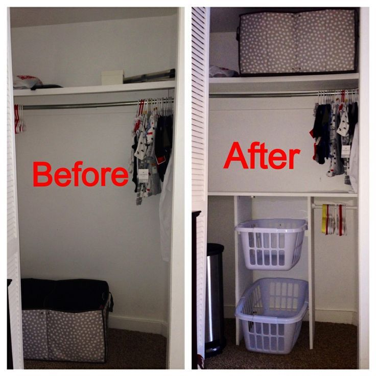 Awesome My Husband Added Storage Space To Our Small Nursery Closet.