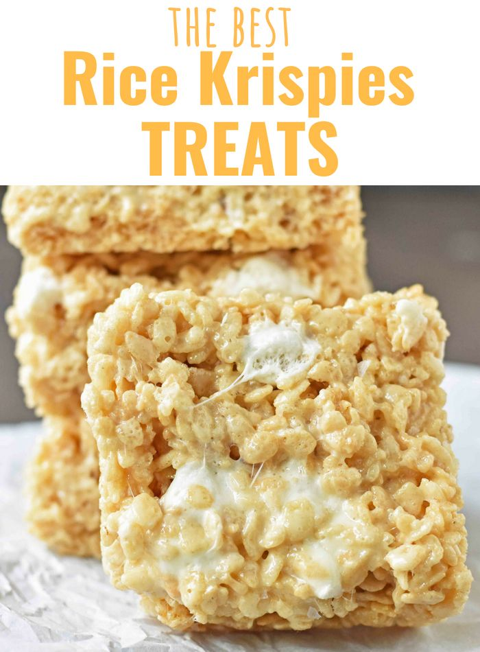 The BEST Rice Krispies Treats Recipe EVER. How to make the perfect Rice Krispie Treats. www.modernhoney.com #ricekrispiestreats #ricekrispietreats #ricekrispiestreats
