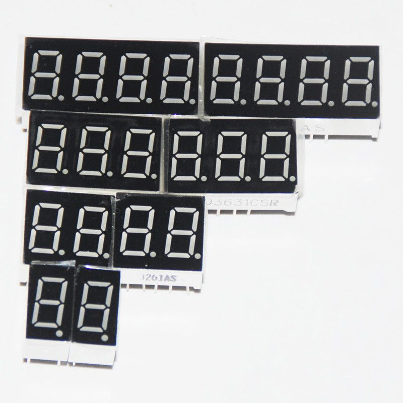 8 Stks 7 Segment Led Display 0 36 Inch 1 2 3 4 Bit 2 Stks Elke Gemeenschappelijke Kathode Anode Digitale Buis 7 Segment Led Display With Images Display Segmentation Led