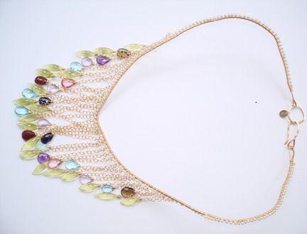 gems cascade collar necklaces from veronica kauai jewelry Leis