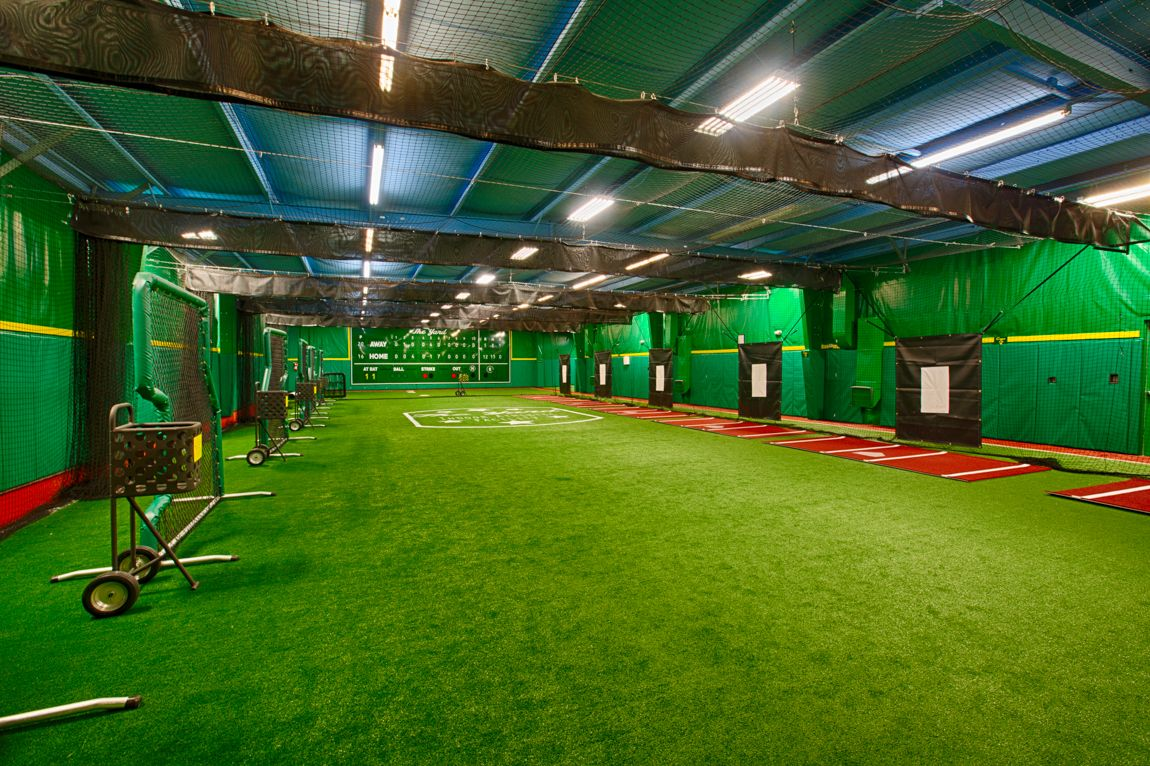 Installing A New Indoor Baseball Facility In Huntsville Al On Deck Sports Blog Indoor Batting Cage Facility Softball Training
