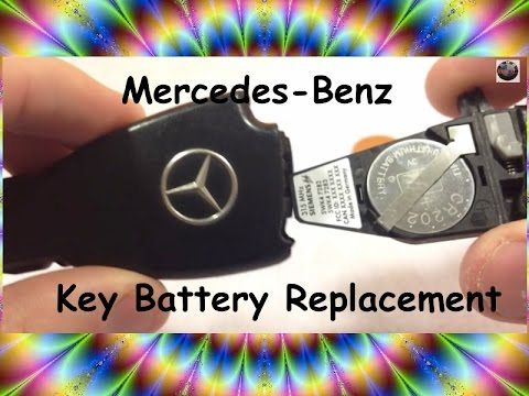 HOW TO change Mercedes Key Battery (Replace battery Benz