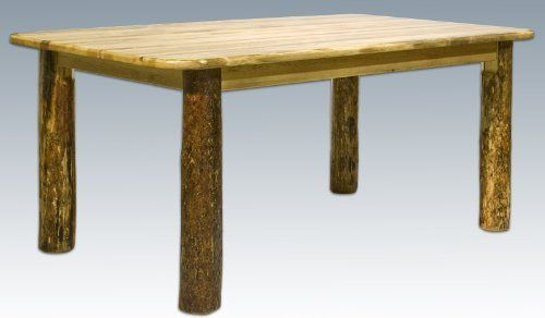 """Montana Woodworks Glacier Country 4 - Post Dining Table by MONTANA WOODWORKS. $499.99. Montana Woodworks Glacier Country 4 - Post Dining Table. Heirloom quality craftsmanship, built by skilled artisans right here in the U.S.A.! Montana Woodworks' 4-Post Table combines the strength and efficiency of solid pine, edge-glued panels for a surface that won't warp with the decorative appeal of hand-peeled, lodge pole pine accents and spindles. Its one-of-a-kind """"Glacier Count..."""