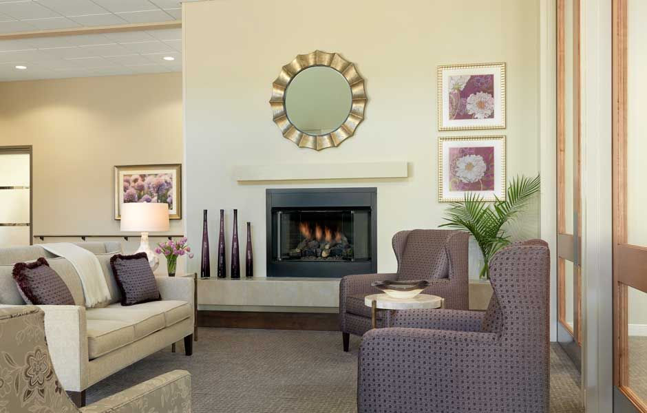 The lodge at sherbrooke village lounge senior living - Senior living interior design firms ...