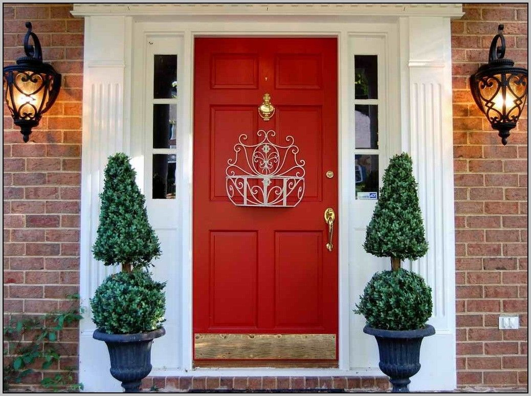 Superb Front Door Paint Colors For A Red Brick House Home Interior U2014 Stock  Image