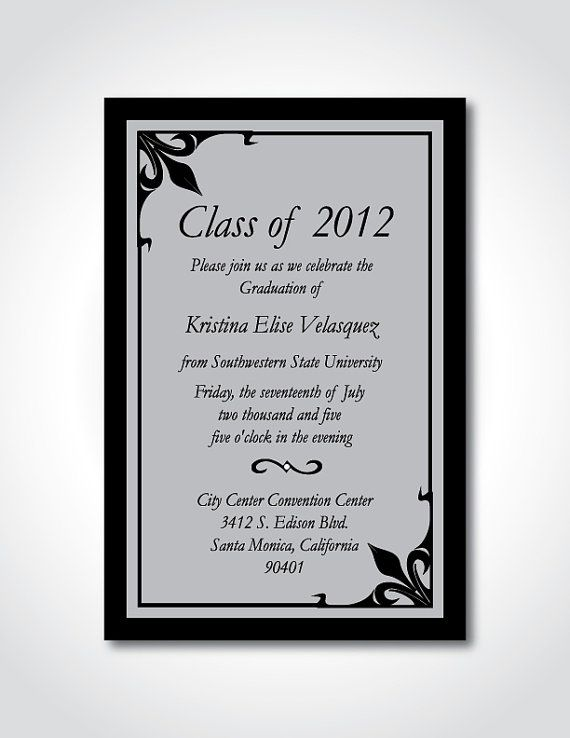 Contoh Formal Invitation : contoh, formal, invitation, Graduation, Announcement, Formal, Invitation, SNicoleDesigns,, .00, Invitations,, Party, Wording,, Cards