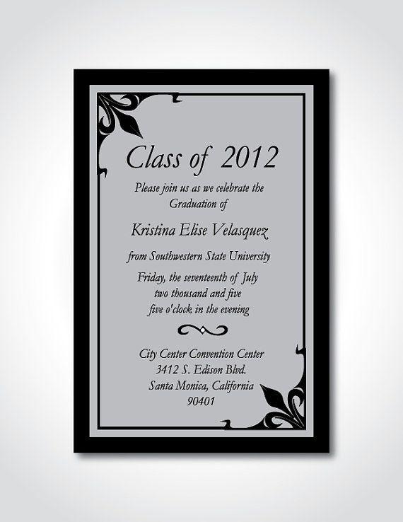 Graduation Announcement Formal Invitation By Snicoledesigns