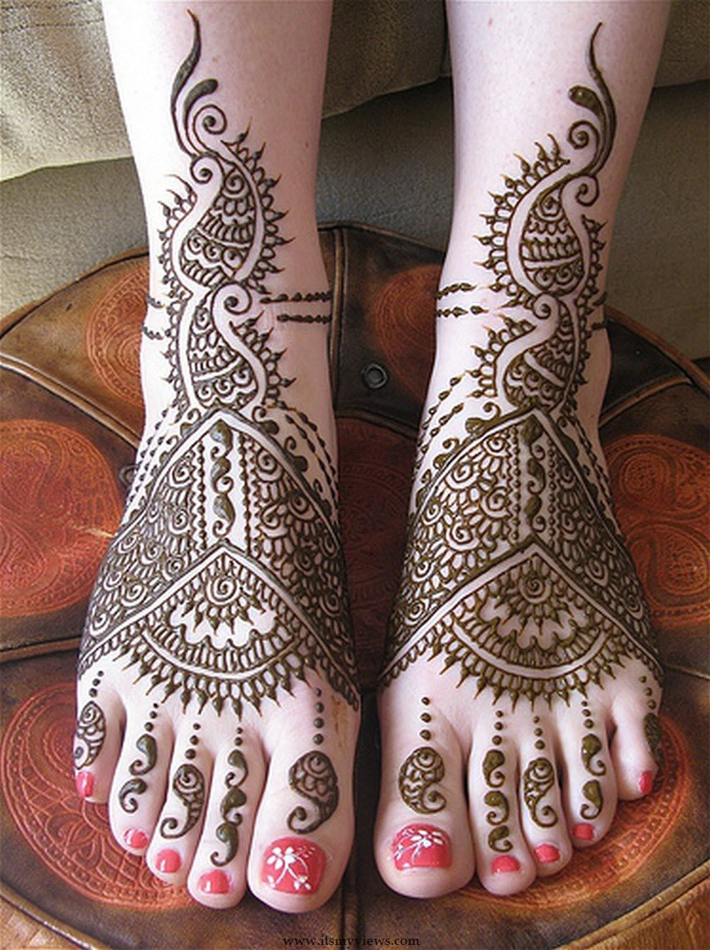 Bridal mehndi 2013 - Mehandi Designs Latest Foot Mehndi Design For Bridal And Eid Day Picture 2013 2014