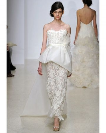 I bet that train will be stunning walking down the aisle. Amsale Spring 2013