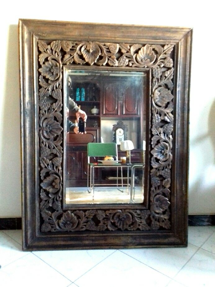 grand miroir indien sculpt chambre marrakech en 2018. Black Bedroom Furniture Sets. Home Design Ideas
