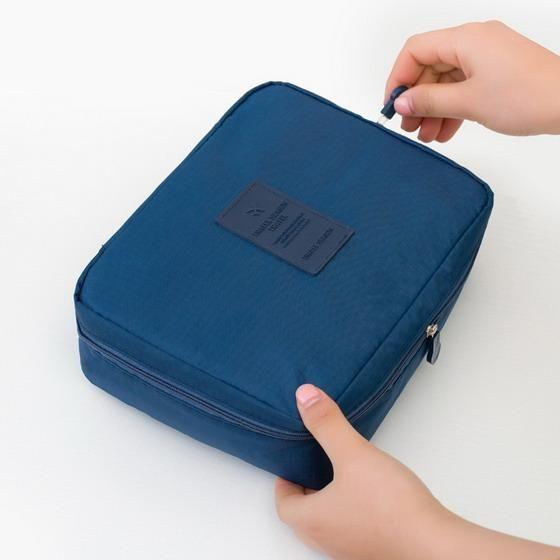 Portable Toiletry Cosmetic Bag Waterproof Makeup Make Up Wash Organizer  Storage Pouch Travel Kit Handbag Brand 9eaa83939ab24
