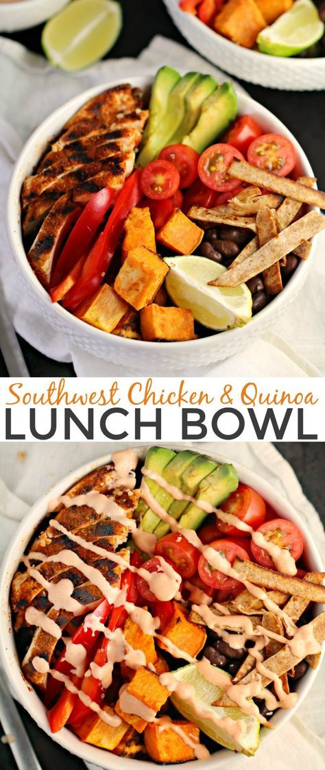 Southwest Chicken And Quinoa Lunch Bowl Recipe Low Carb