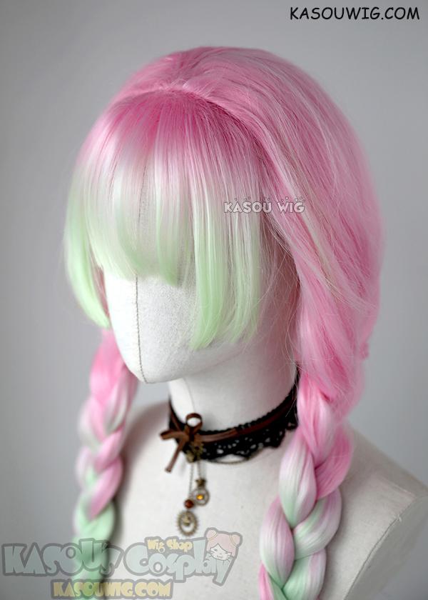 Kasou Wig Kimetsu No Yaiba Demon Slayers Mitsuri Kanroji Thick Pink Green Cosplay Wig In 2020 Kawaii Hairstyles Anime Hair Cosplay Hair The wig is rather nice for the price. kawaii hairstyles anime hair cosplay hair