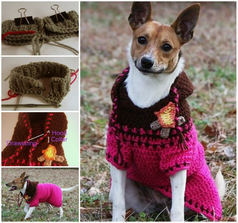 Diy Crochet Dog Hoodie Crochet Dog Sweater Free Pattern And Crochet