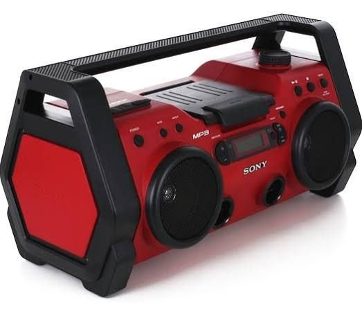 heavy duty outdoor radio camping boombox sony outdoor. Black Bedroom Furniture Sets. Home Design Ideas