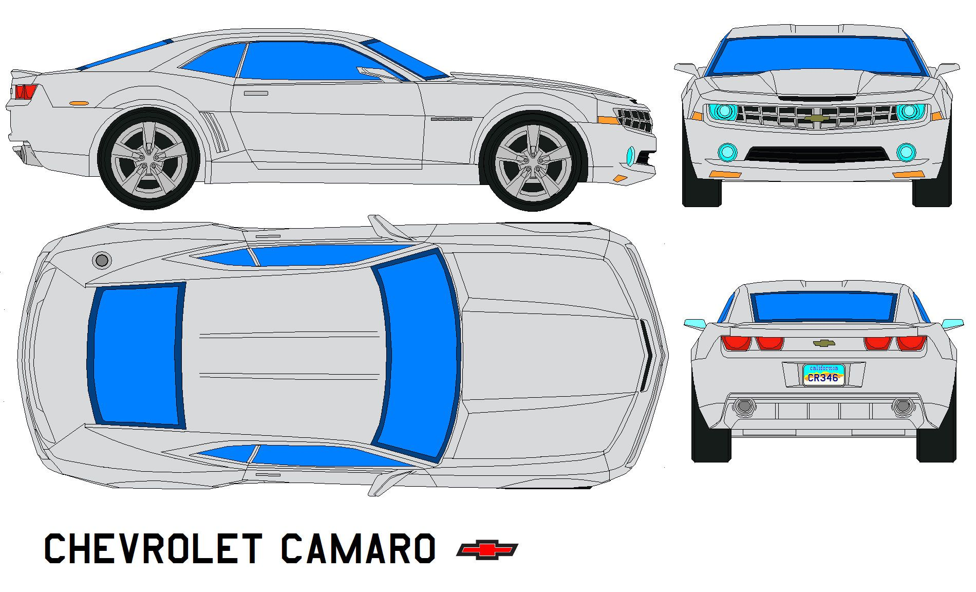 bumble bee camaro ss template google search templates