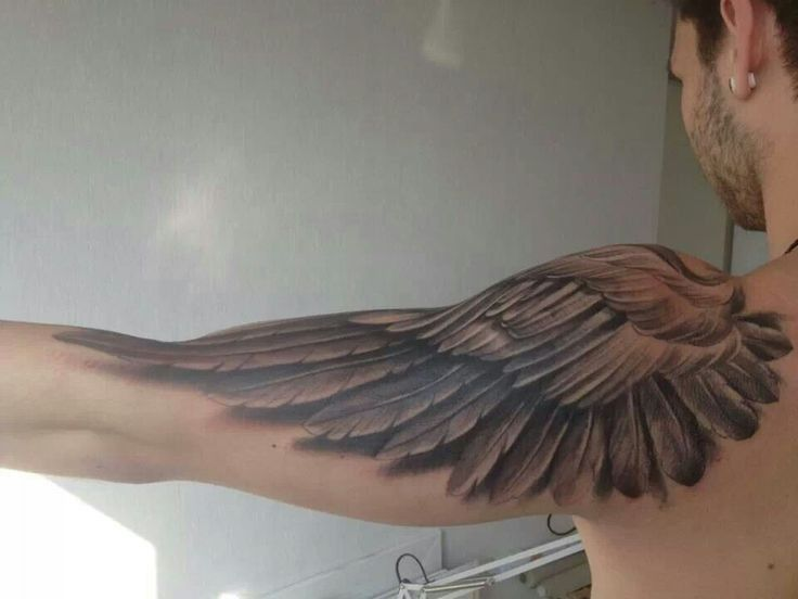wing tattoos on forearm for men google search tattoo ideas pinterest wing tattoos. Black Bedroom Furniture Sets. Home Design Ideas