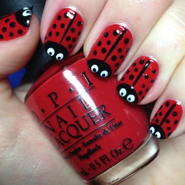 deco ongles coccinelle