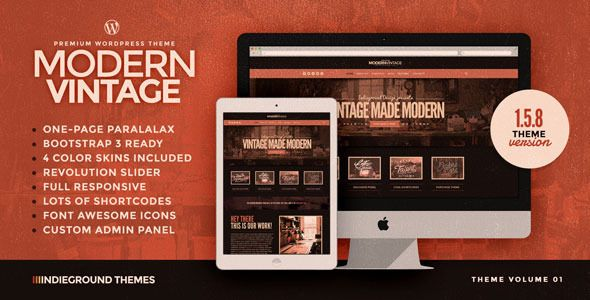 Modern Vintage | One Page WordPress Theme (WordPress, Creative ...