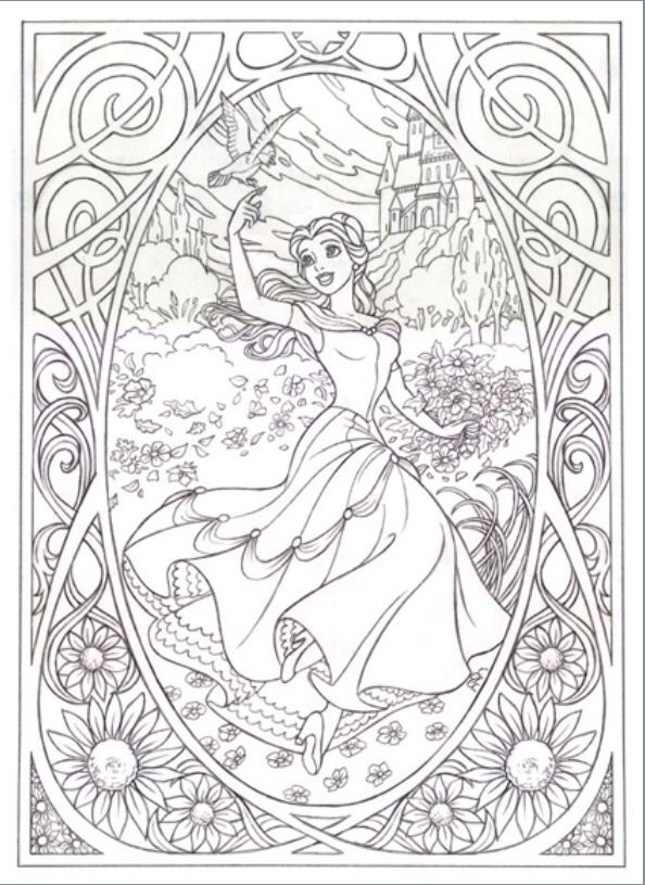 Pin by Taylor Campbell on Disney Coloring Pages Pinterest Belle - best of coloring pages ariel disney