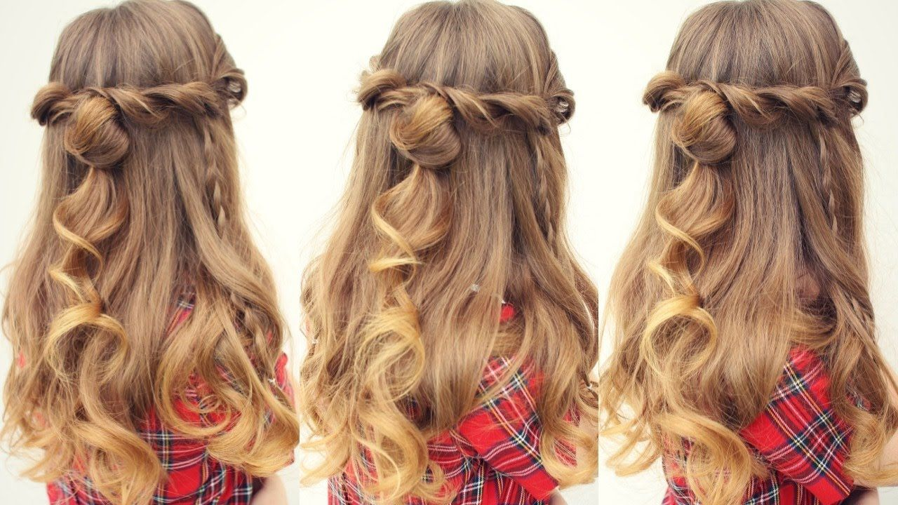 Easy Half Up Half Down Hairstyle Half Down Hairstyles