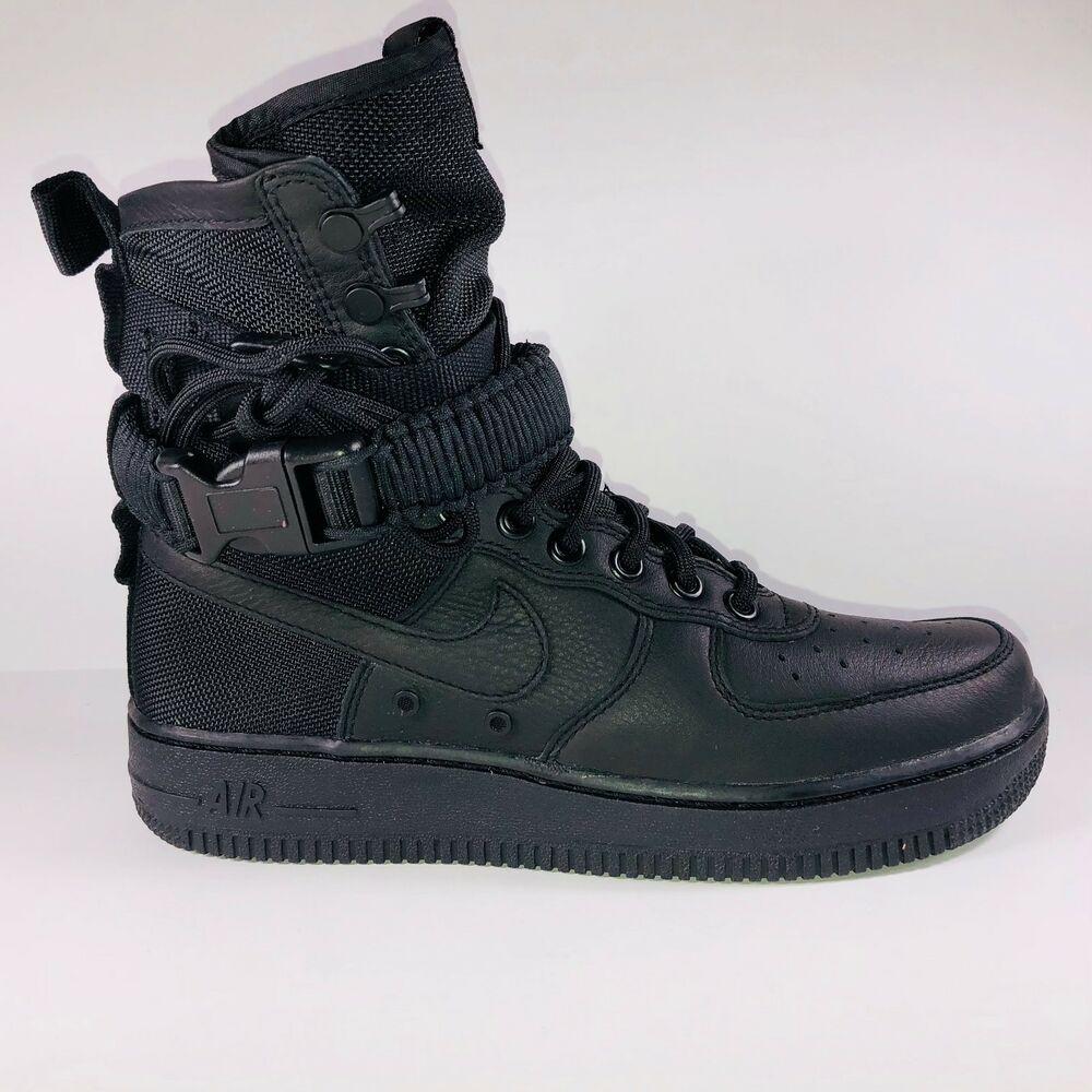 e484631186a89 Nike Special Field Air Force 1 High Top Triple Black Sneaker 857872 ...